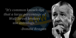 ... that a large percentage of Wall Street brokers use astrology