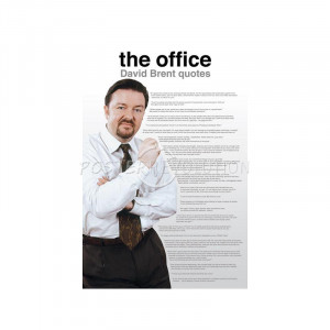 The Office UK (David Brent Quotes) TV Poster