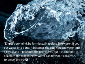 bruce lee quotes Empty your mind, be formless. Shapeless, like water ...