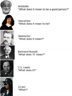 aristotle: what does it mean to be a good person? descartes: what does ...