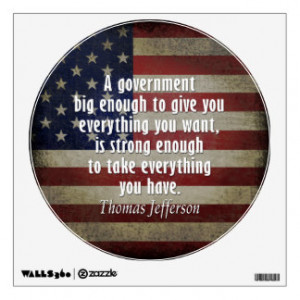 Quotation about Limited and Big Government Wall Skins