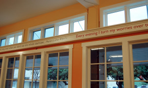 Quotes, St. Vincent de Paul Free Dining Room, Debra Nichols Design