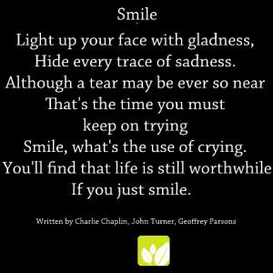 Smile-No matter what happens