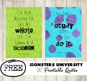 Monsters University Printable Quotes