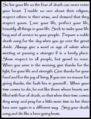Tecumseh quote used in Act of Valor movie- at the end of the movie ...