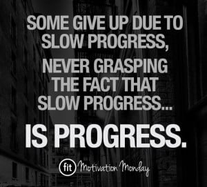 Fitness quotes & inspiration - PROGRESS.