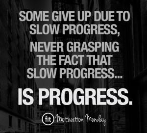 Fitness quotes & inspiration - PROGRESS.