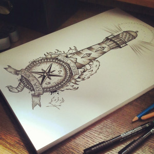 Displaying 20> Images For - Traditional Lighthouse Tattoo Designs...