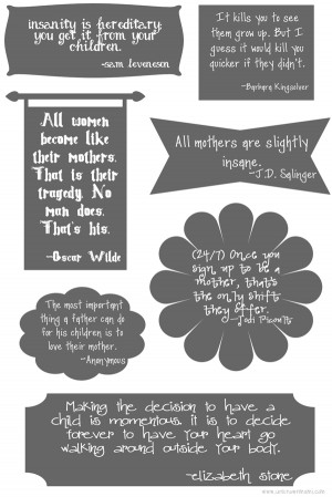 Free Mother's Day Printable for You or Your Mother!