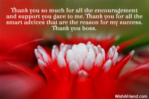 Thank You Quotes For Boss Thank you boss.