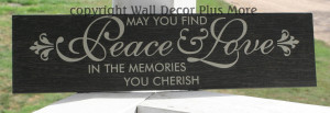 May You Find Peace & Love in the Memories You Cherish Wall Sticker ...