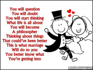 Funny Wedding Card Poems: Congratulations for Getting Married