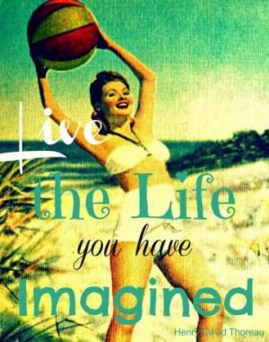 Thoreau Quote 16x20 LIVE THE LIFE print