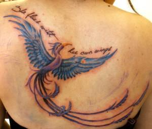 Phoenix back tattoo ideas