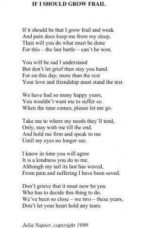 Dog Loss Quotes Pet loss poem. via gerry