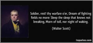 Soldier, rest! thy warfare o'er, Dream of fighting fields no more ...