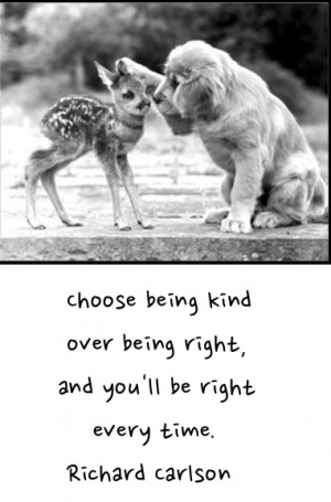 Choose being kind over being right…