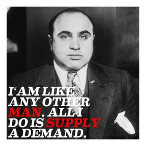 Home Al Capone Quote Canvas Art Print #4004