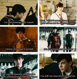Edmund Pevensie throughout the Prince Caspian movie!