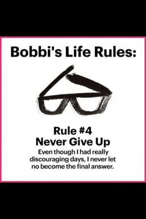 Bobby brown, never give up!