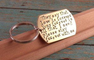 Love quotes Keychain-Perfect Gift for a Grooms Wedding gift-husband ...