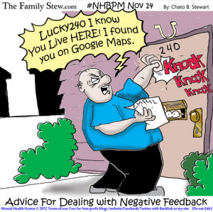 ... health humor - Family Stew - Advice for dealing with negative comments