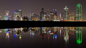 Dallas TX Skyline at Night