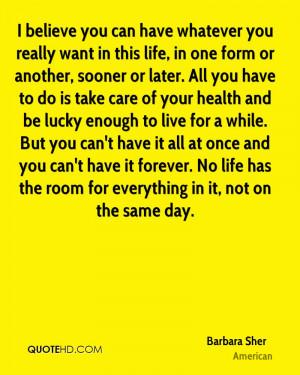 Barbara Sher Life Quotes