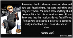 Remember the first time you went to a show and saw your favorite band ...