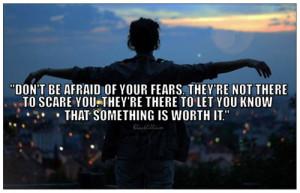 Don't Be Afraid - quotes Fan Art