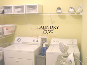 ... Vinyl Wall Decals / Kitchen/Laundry/Bathroom / Laundry Cute Wall quote