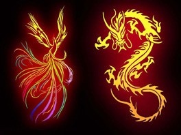 Dragons and phoenixes
