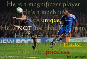 Lampard: Drogba's Priceless