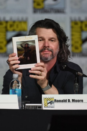 Ronald D. Moore at event of Outlander (2014)