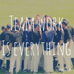 Teamwork. Baseball