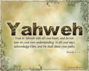 Yahweh #houseofyahweh #trustinyahweh Proverbs 3:5-6 https://www ...