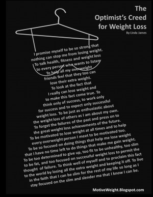 The Optimist's Creed for Weight Loss