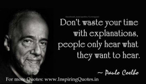 Paulo Coelho Inspirational Sayings and Quotes Pictures