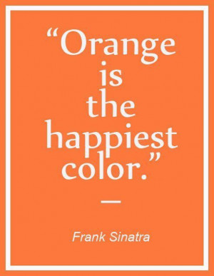 We love the color orange! What color makes you happy?