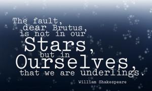 The Fault, Dear Brutus