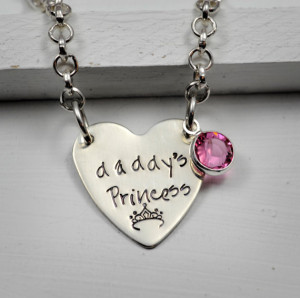 Daddy's Princess Little Girl's Necklace - Sterling Silver or Nickel ...