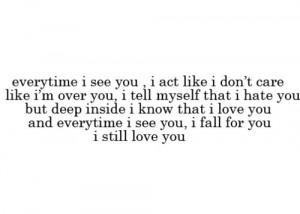 Still Love My Ex Boyfriend Quotes , I Still Love My Ex Quotes ...