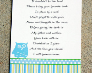 20 Baby Shower book Insert cards, Baby Shower Book Poems, Favorite ...