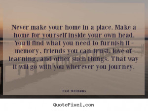 Tad Williams Love Quote Wall Art