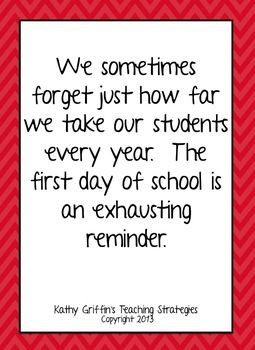 First Day of School Inspirational Quotesg Free from tpt