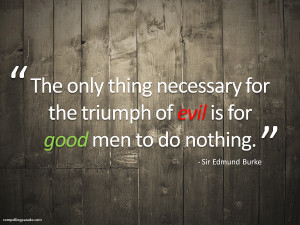burke triumph of evil quotation