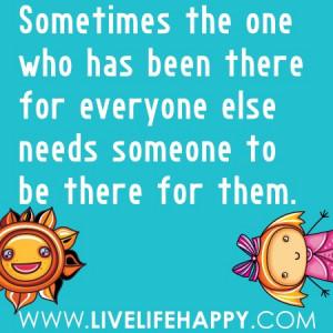 Att ställa upp för andra