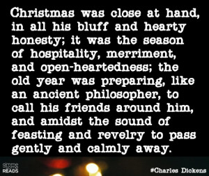 "Who else would personify Christmas in all its ""bluff and hearty ..."