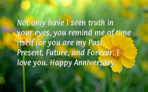 First wedding anniversary quotes for husband