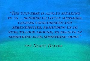 the universe is always speaking